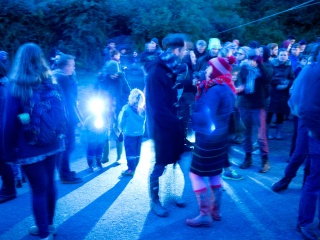 Gathering for the Sonic Bat Walk. Image: Alison Boyes